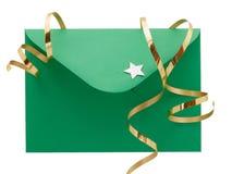 Grüner Umschlag stockbild