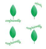 Eco Logos Lizenzfreie Stockfotos