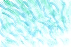 Grüner und blauer abstrakter handgemalter Aquarellhintergrund Stockfoto