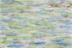 Grüner und blauer Hintergrund der gemalten Beschaffenheit auf hölzerner Planke Lizenzfreie Stockfotografie