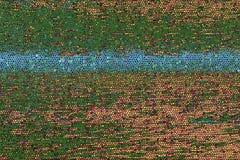 Grüner und blauer Mosaikhintergrund Stockbild