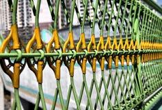 Grüner und gelber Dayglow Stahl Lizenzfreies Stockbild