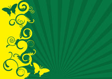 Grüner und gelber Frühling Stockfotos
