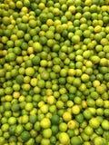 Grüner und gelber Kalk Lizenzfreies Stockbild
