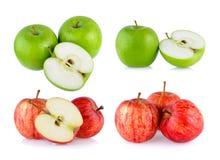 Grüner und grüner Apfel Lizenzfreie Stockfotos