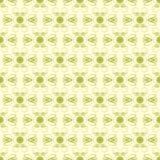 Grüner und hellgelber Damast-nahtloses Muster Lizenzfreie Stockfotos