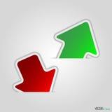 Grüner und roter Pfeil Lizenzfreies Stockfoto