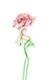 Grüner und roter Rauch Stockfotos