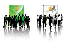 Grüner und schwarz-weißer Geschäftstee Stockfoto