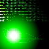 Grüner und schwarzer abstrakter Hintergrund Vektor Abbildung