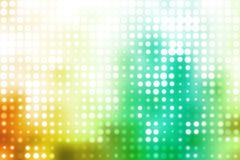 Grüner und Weiß-glühender futuristischer Hintergrund lizenzfreie abbildung