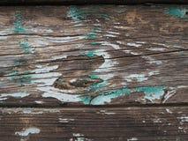 Grüner und weißer gemalter hölzerner Beschaffenheitshintergrund stockfotos
