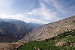 Grüner Vally Himalaja Stockbild