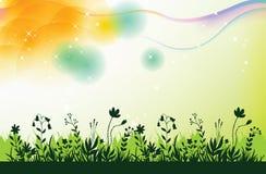 Grüner Vektorgrashintergrund Stockfoto