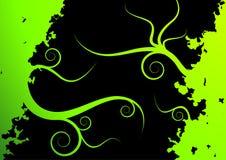 Grüner vektormit blumenhintergrund Lizenzfreies Stockbild