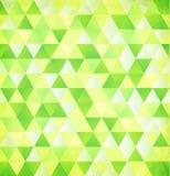 Grüner Vektorzusammenfassungsdreieck-Weinlesehintergrund Stockbild