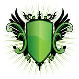 Grüner Verkünder-Scheitel lizenzfreie abbildung
