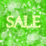 Grüner Verkauf Stockfotografie
