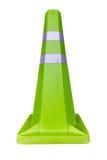 Grüner Verkehrskegel Stockfotografie