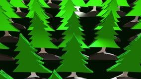 Grüner Wald von Tannenbäumen lizenzfreie abbildung
