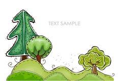 Grüner Waldhintergrund, glückliche Weltsammlung Lizenzfreies Stockbild