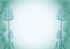 Grüner Waldkarikatur-Designhintergrund Stockbilder