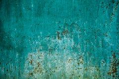 Grüner Wandbeschaffenheitshintergrund mit Rost Lizenzfreie Stockfotos