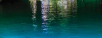 Grüner Wassersee, eine Abstraktion mexiko Lizenzfreie Stockbilder