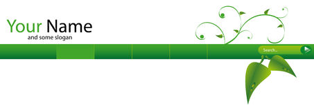 Grüner Web-Vorsatz Stockfoto