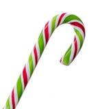 Grüner, weißer und roter Süßigkeit Weihnachtsstock, Lutscher Stockbilder