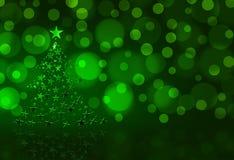 Grüner Weihnachtsbaum vektor abbildung