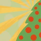 Grüner Weihnachtsbaum stockbild