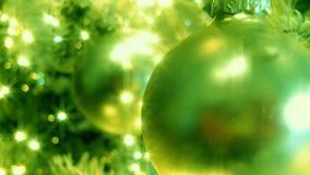 Grüner Weihnachtsbaum (HD-Schleife) stock video
