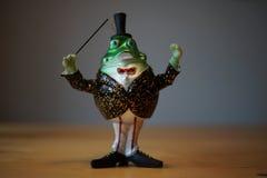 Grüner Weihnachtsdekoration Frosch Lizenzfreies Stockfoto