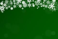 Grüner Weihnachtshintergrund Lizenzfreies Stockbild