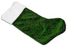Grüner Weihnachtsstrumpf Lizenzfreie Stockfotografie