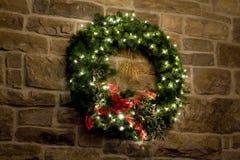 Grüner WeihnachtsWreath Stockbild