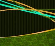 Grüner Weinlese-Exklusiv-Hintergrund lizenzfreie abbildung