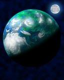Grüner Weltraum-Planet Lizenzfreie Stockfotografie