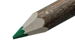 Grüner Zeichenstift und weißer Hintergrund Lizenzfreie Stockbilder