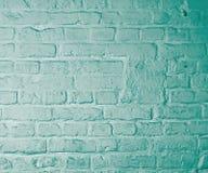 Grüner Ziegelstein-Hintergrund Stockbild