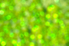 Grünes abstraktes bokeh als Hintergrund Stockfotografie
