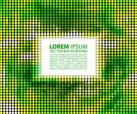 Grünes abstraktes Fahnenhalbtonquadrat Stockbilder