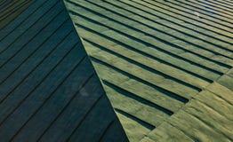 Grünes abstraktes geometrisches backgroung des Dachs Stockbilder