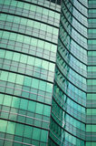 Grünes abstraktes modernes Gebäude Lizenzfreie Stockfotos