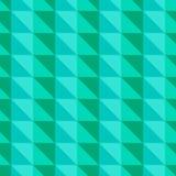 Grünes abstraktes Muster mit Dreiecken Stockbild
