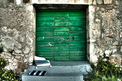 Grünes altes Gatter Lizenzfreies Stockfoto