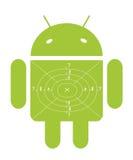 Grünes androides Ziel
