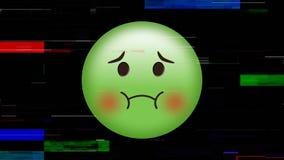 Grünes angewidertes Gesicht emoji