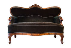 Grünes antikes Sofa lizenzfreie stockbilder